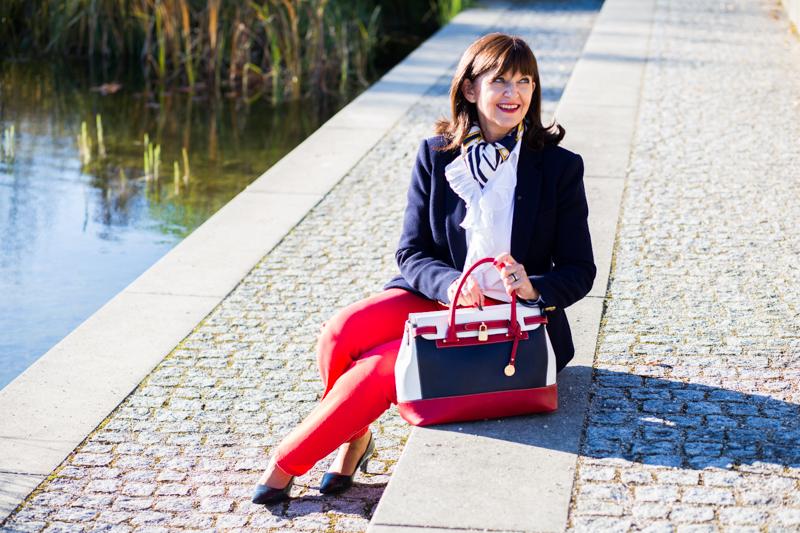 Martina Berg im Maritimen Look