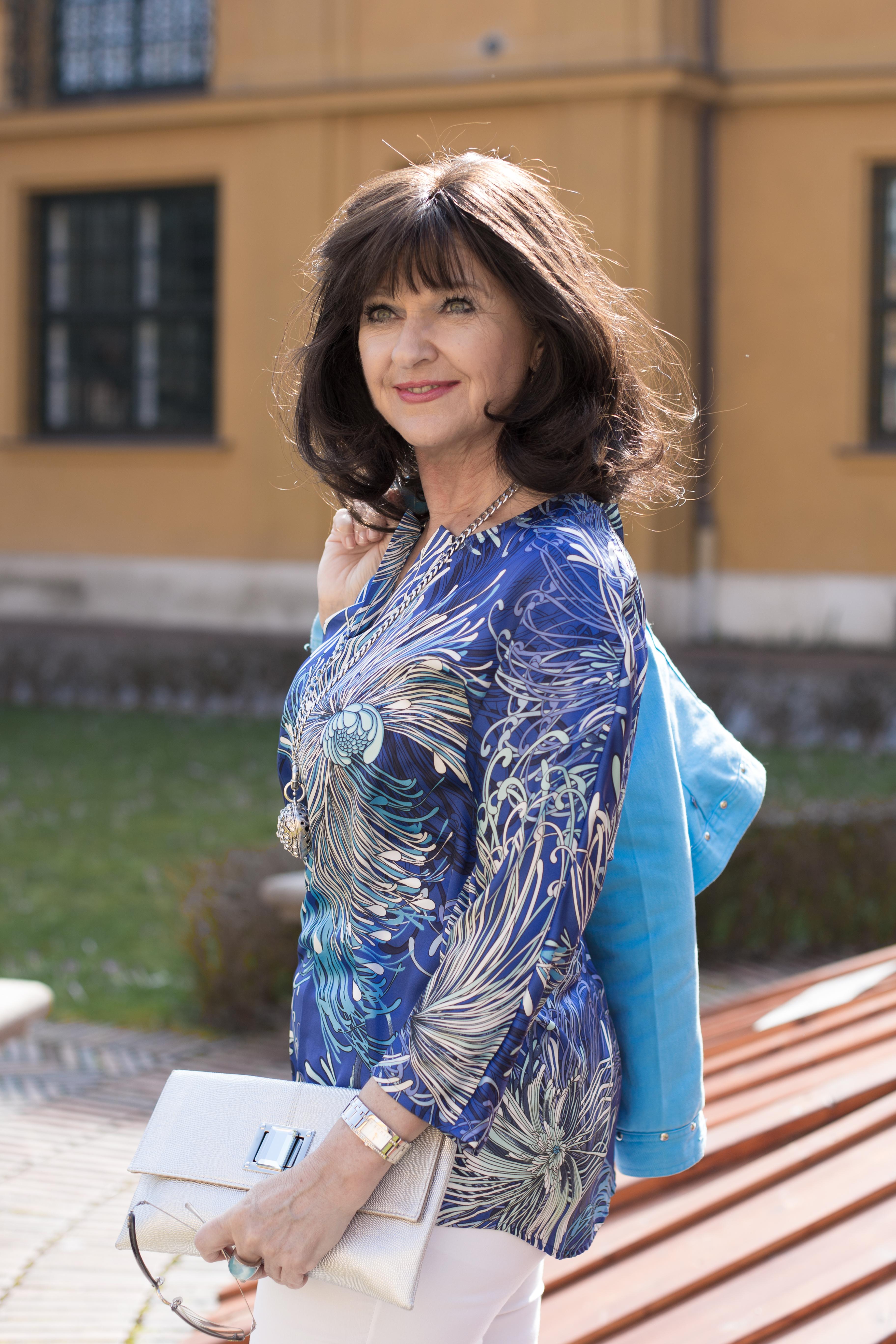 Blaue Tunika Madeleine Fashion