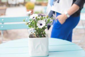 Blauer Hosenanzug - Flower