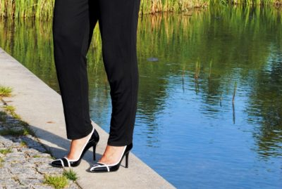 Jumpsuit Black and White Schuhe am See