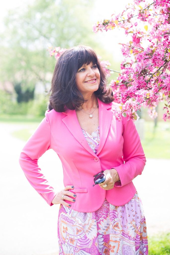 Pretty in Pink - Kleid mit Blazer