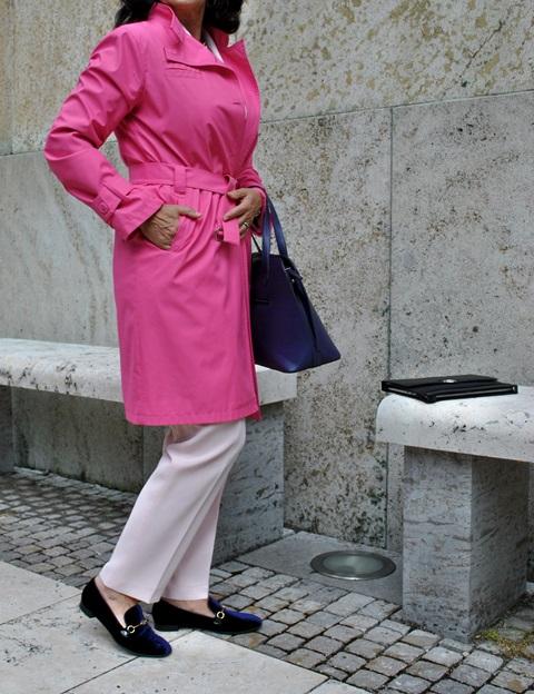 Mantel in Pink mit Högl Ballerinas
