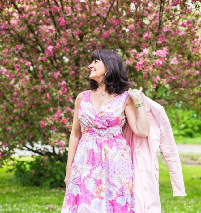 Sommerkleid in rose quartz