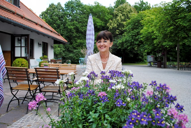 Blumen und Park für die Hochzeit