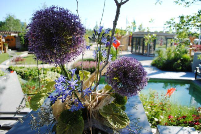 Gartenschau Blumenstrauß