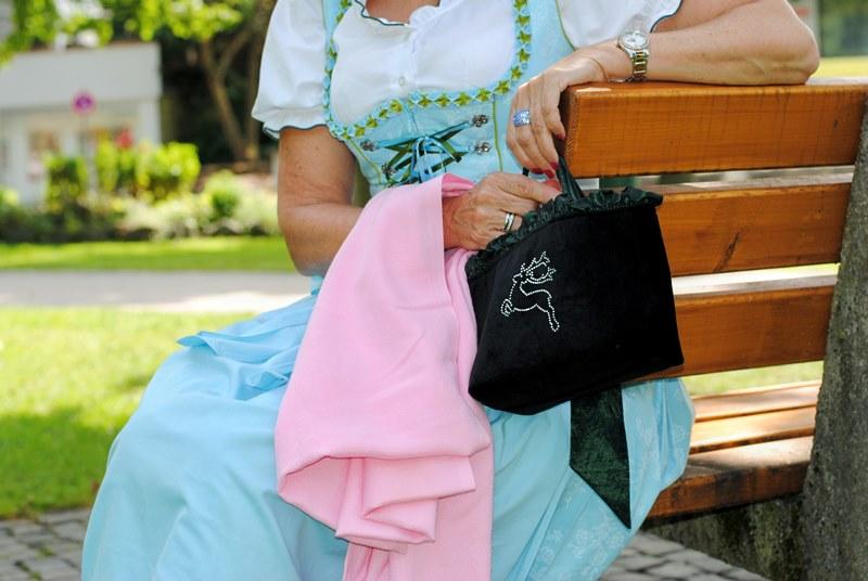 Pashmina Tuch mit Tascherl
