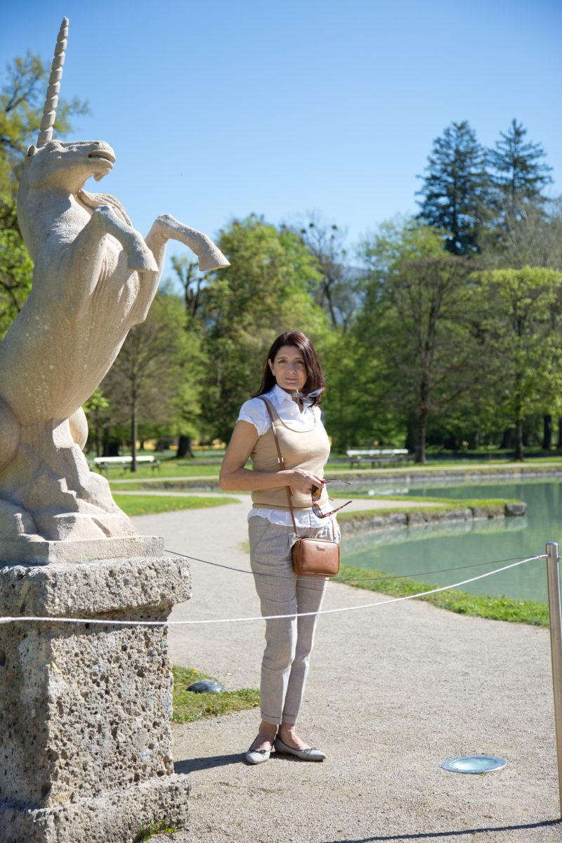 Claudia on tour im Park