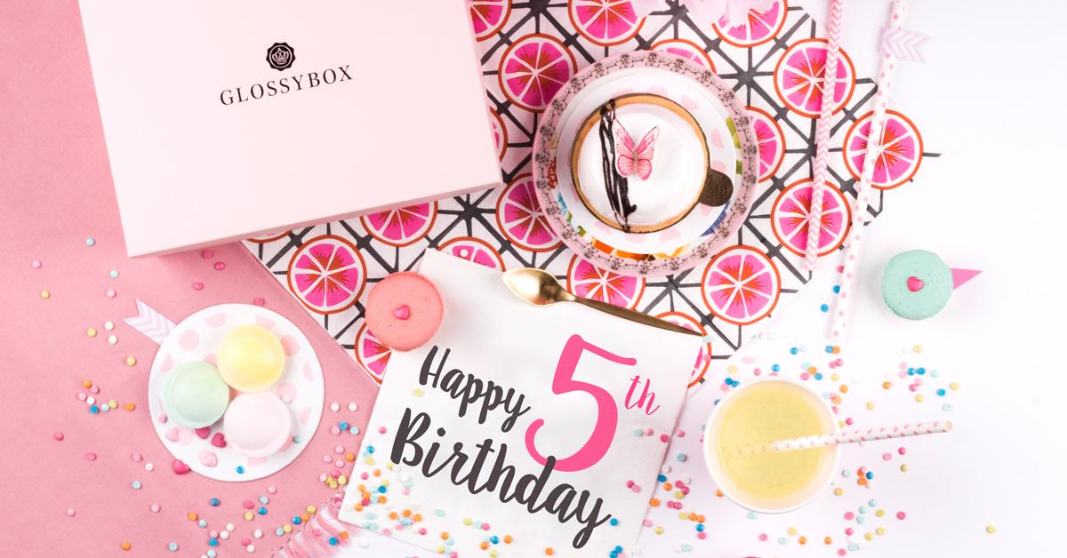 Glossybox feiert 5 Geburtstag