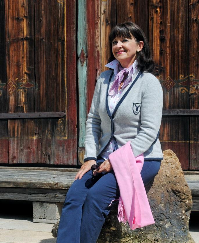 alpenländerischer Strickjanker für die Dame