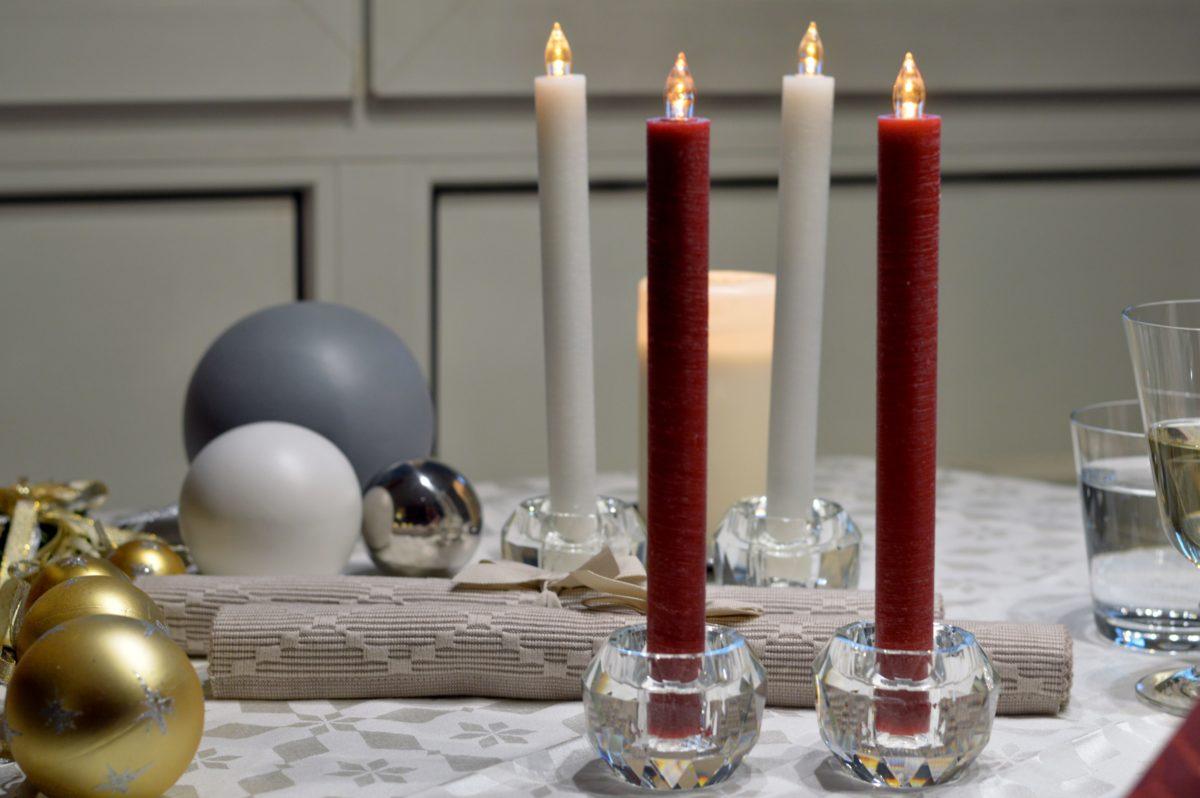 Kerzenständer mit LED Kerzen