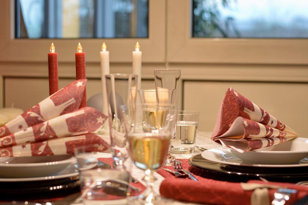 Servietten für die Festtafel