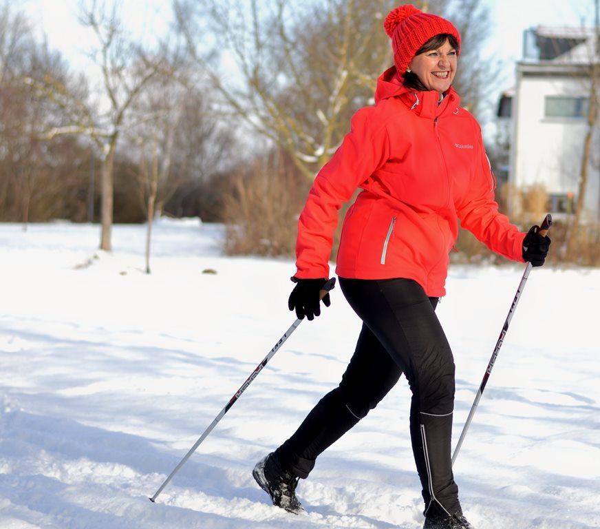 Nordic Walking mit Schnee