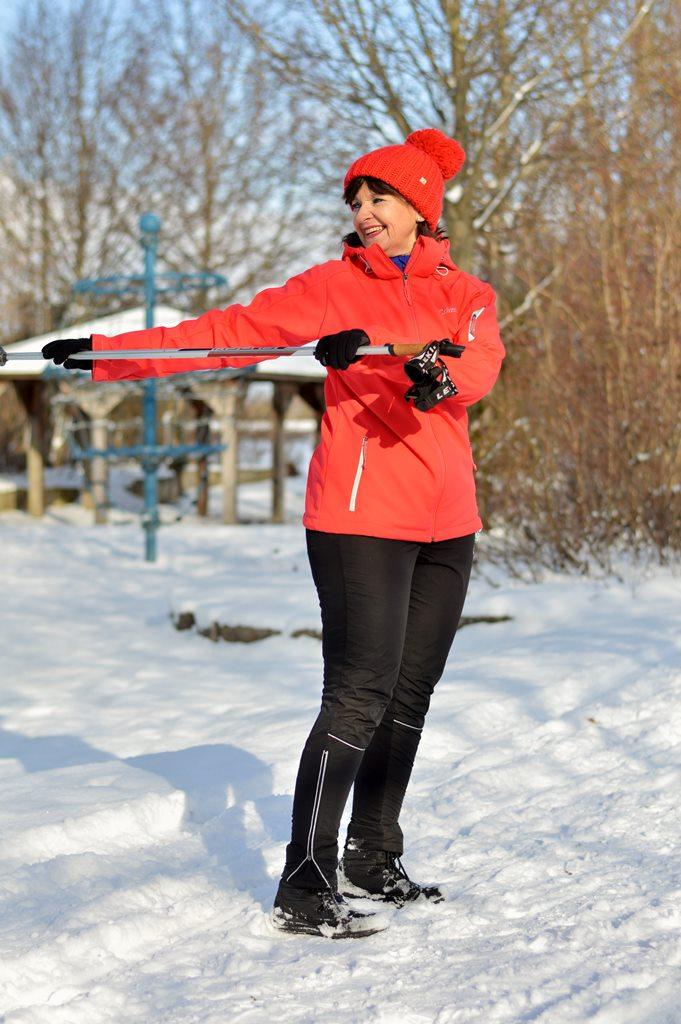Sport im Schnee ist schön
