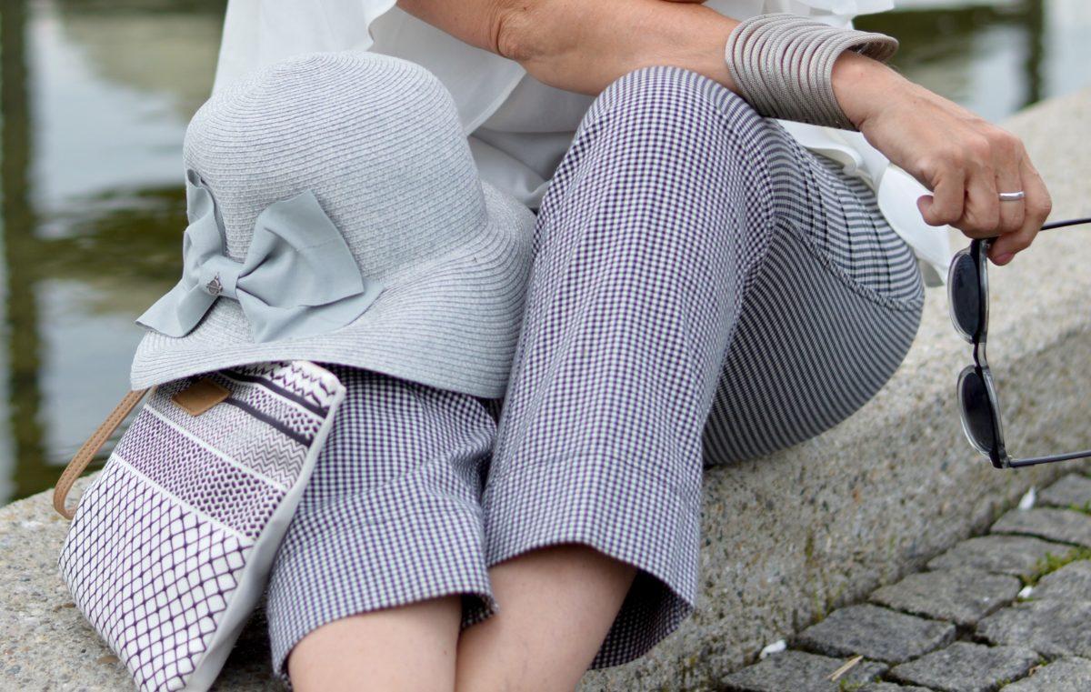 Hose mit Vichy Karo schwarz weiß