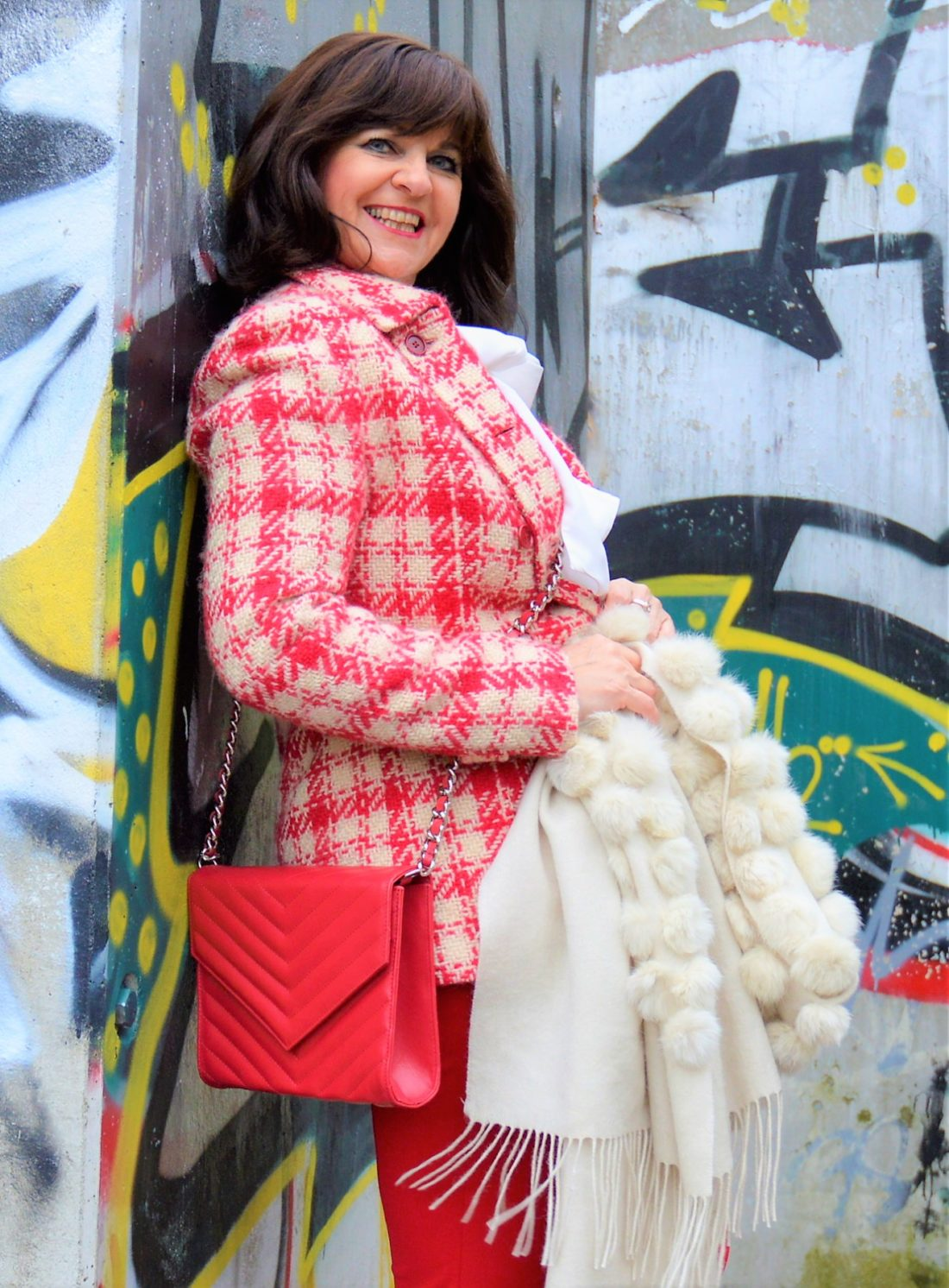 Look in Rosa und Rot