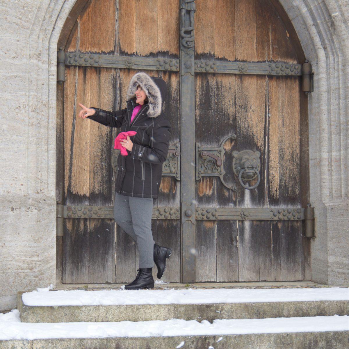 Steppjacke im Winter