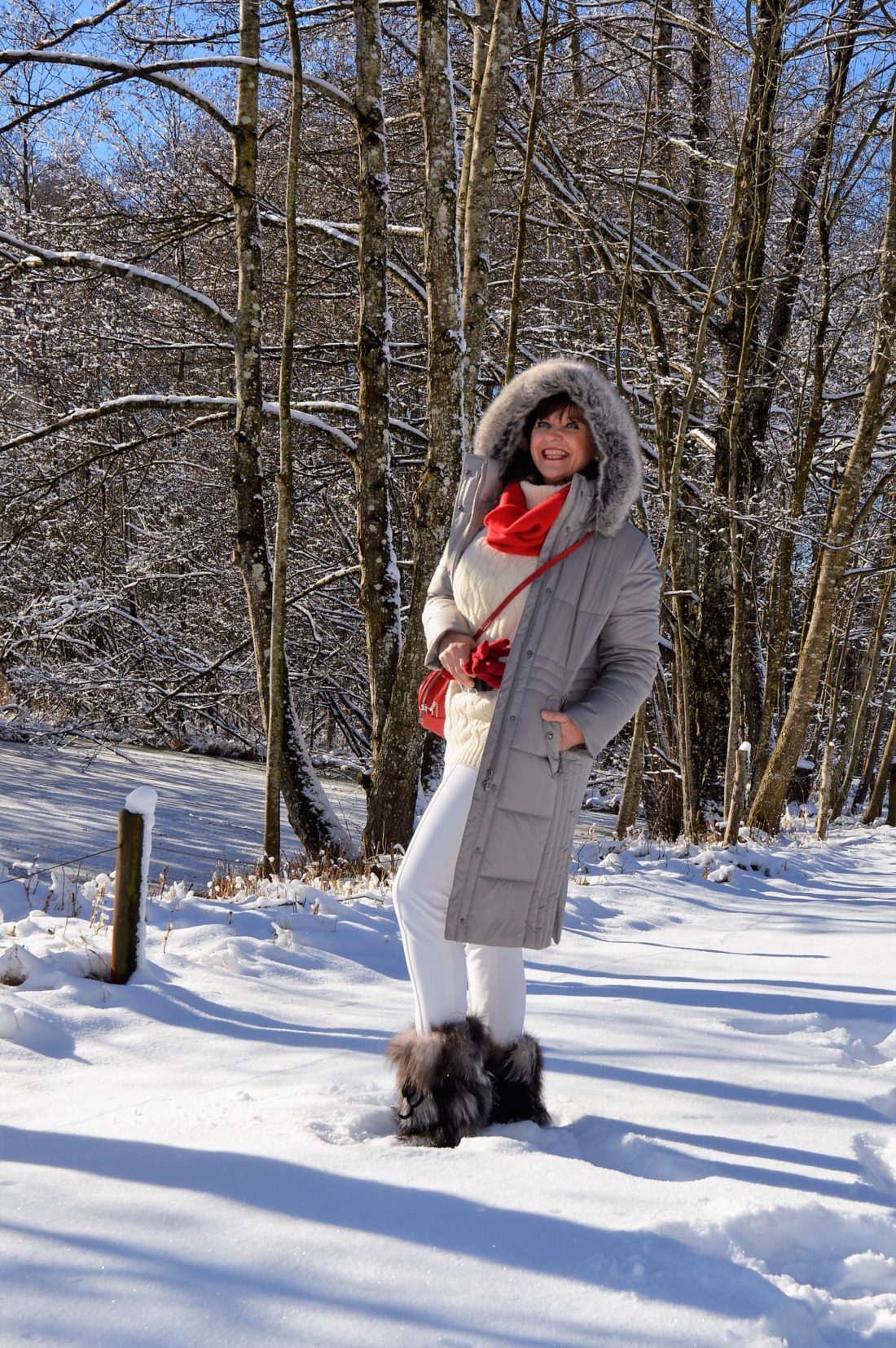 Steppmantel im Schnee