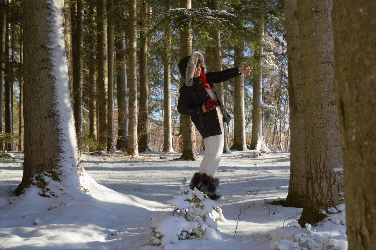 Steppjacke im Winter Wonderland