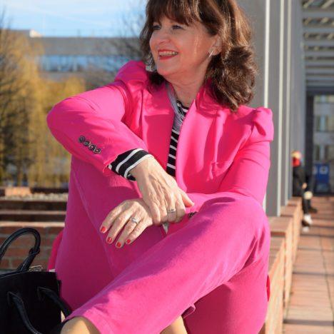 Blazer in pink Stil 50plus