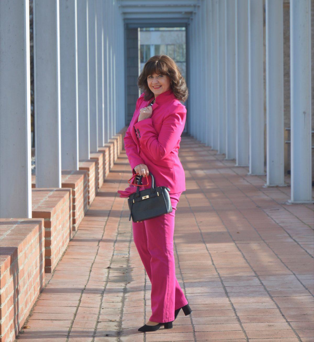 Frühlingslook in Pink