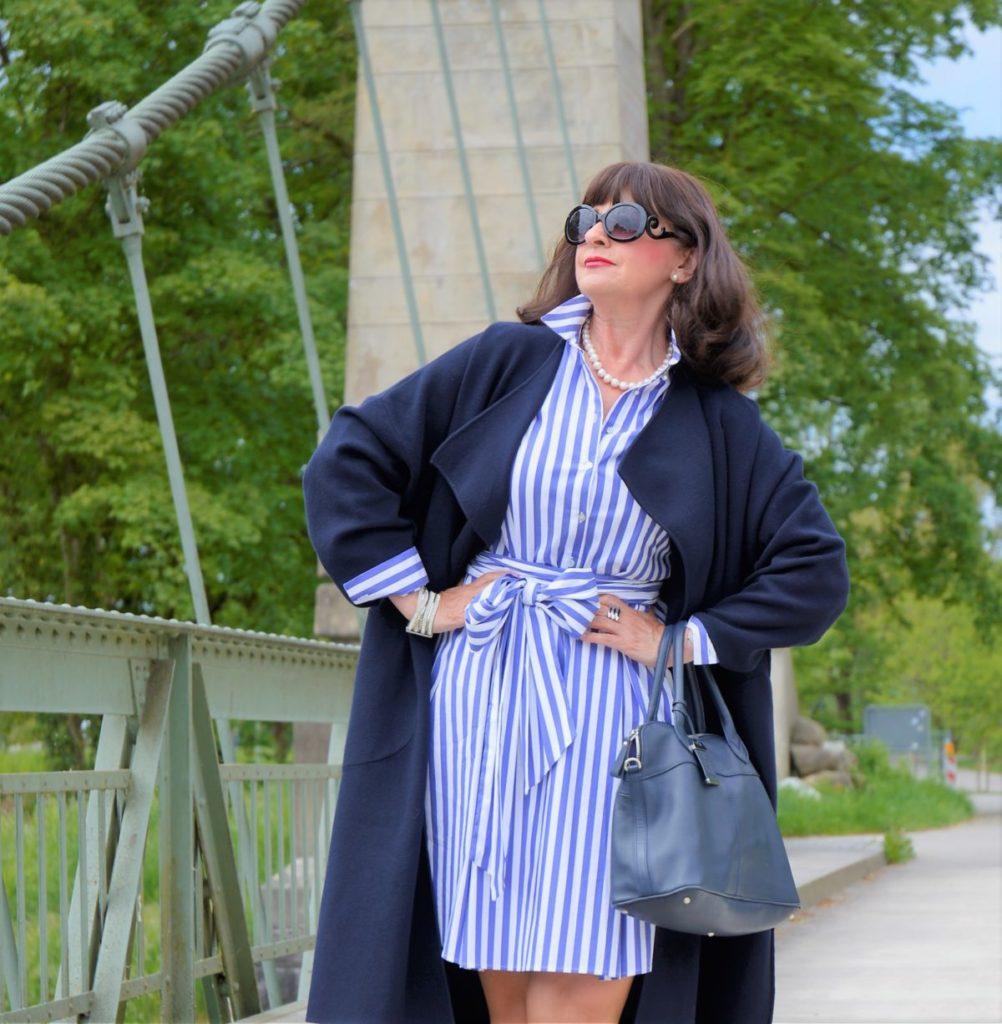 Hemdblusenkleid │3 Styling Tipps mit Blazer und Mantel