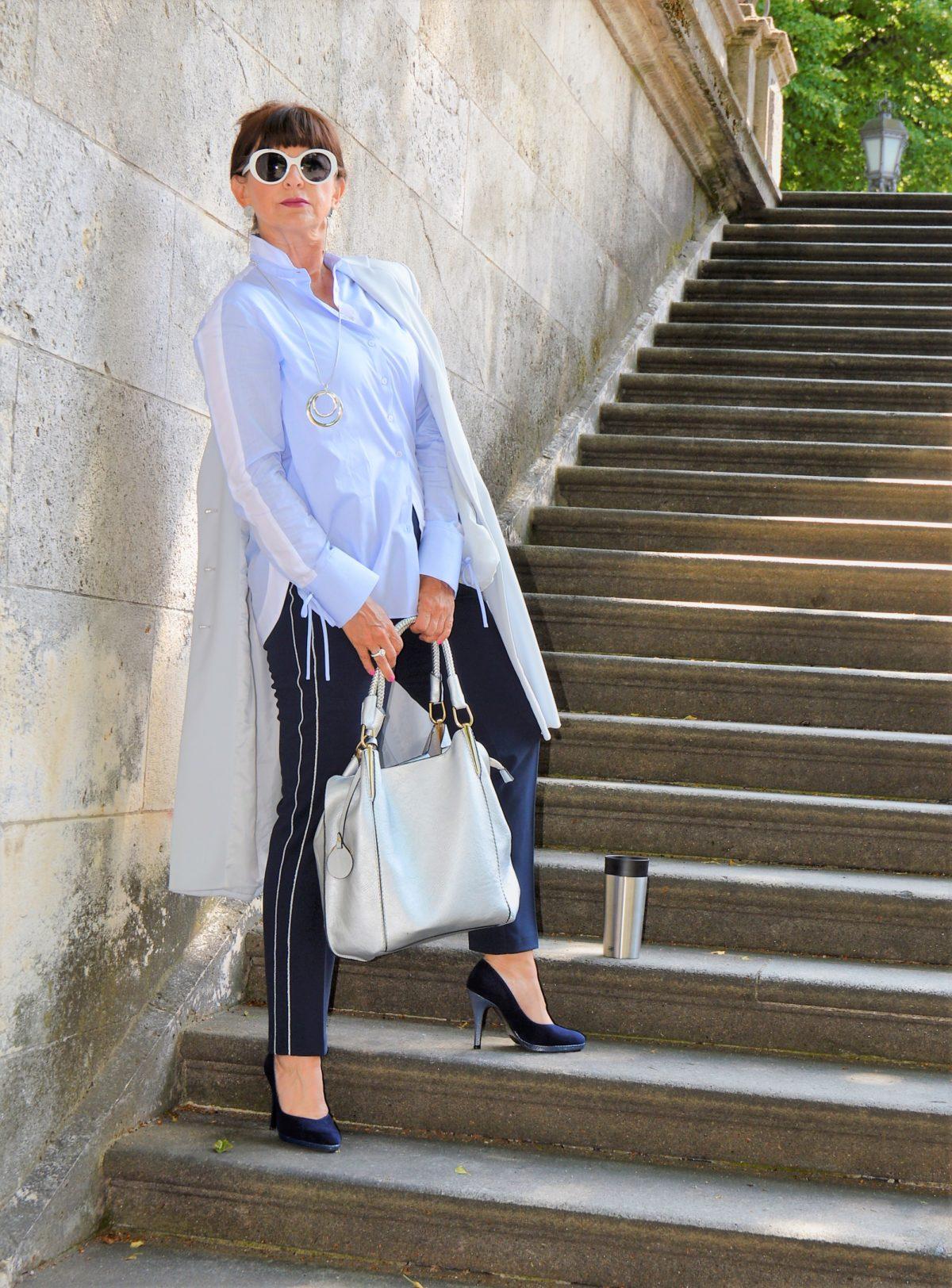 ETERNA Bluse blau