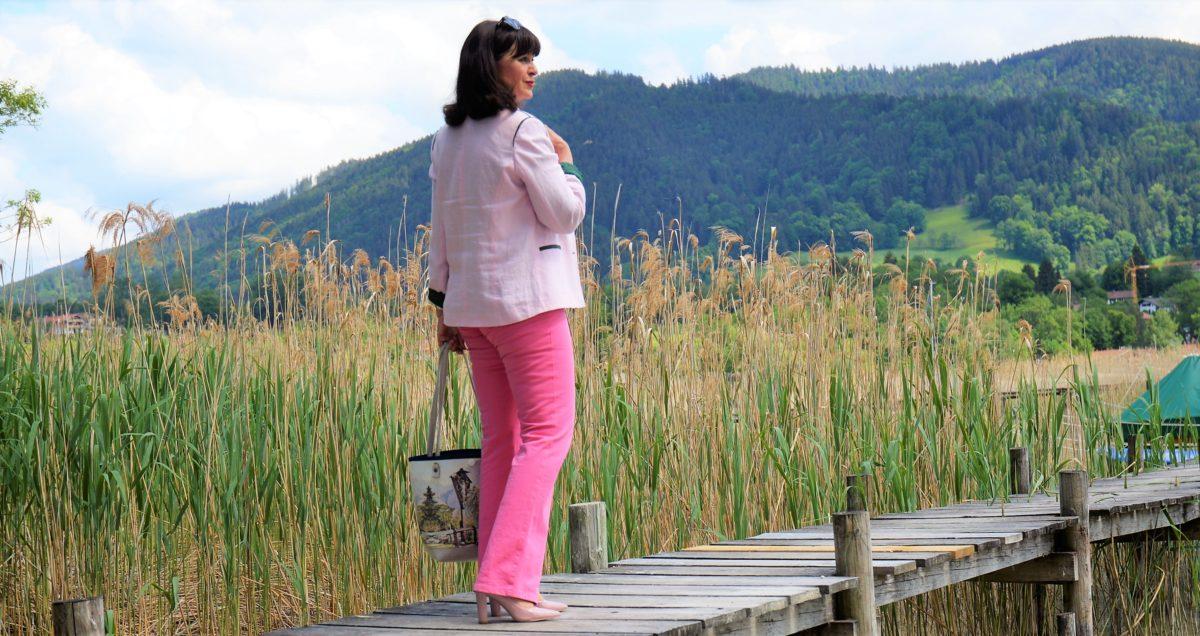 pinkfarbige Jeans
