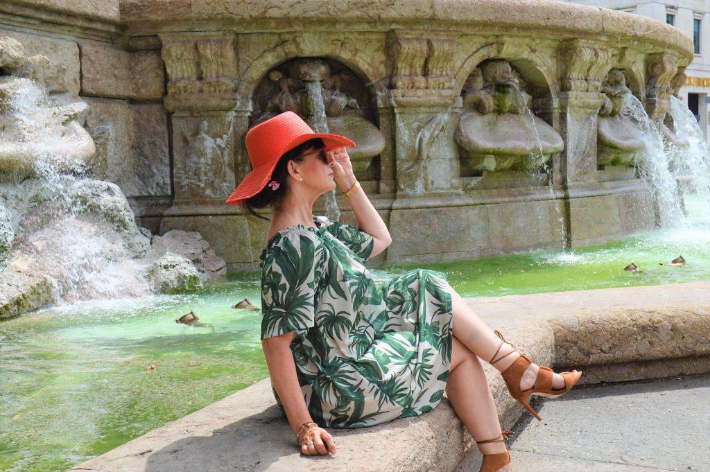 Dschungel Kleid mit Highheels