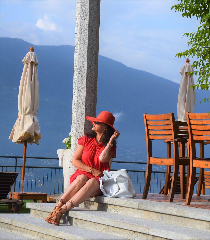 Rotes Leinenkleid Sommer
