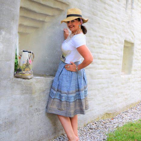 Alpine Fashion mit Trachtenrock