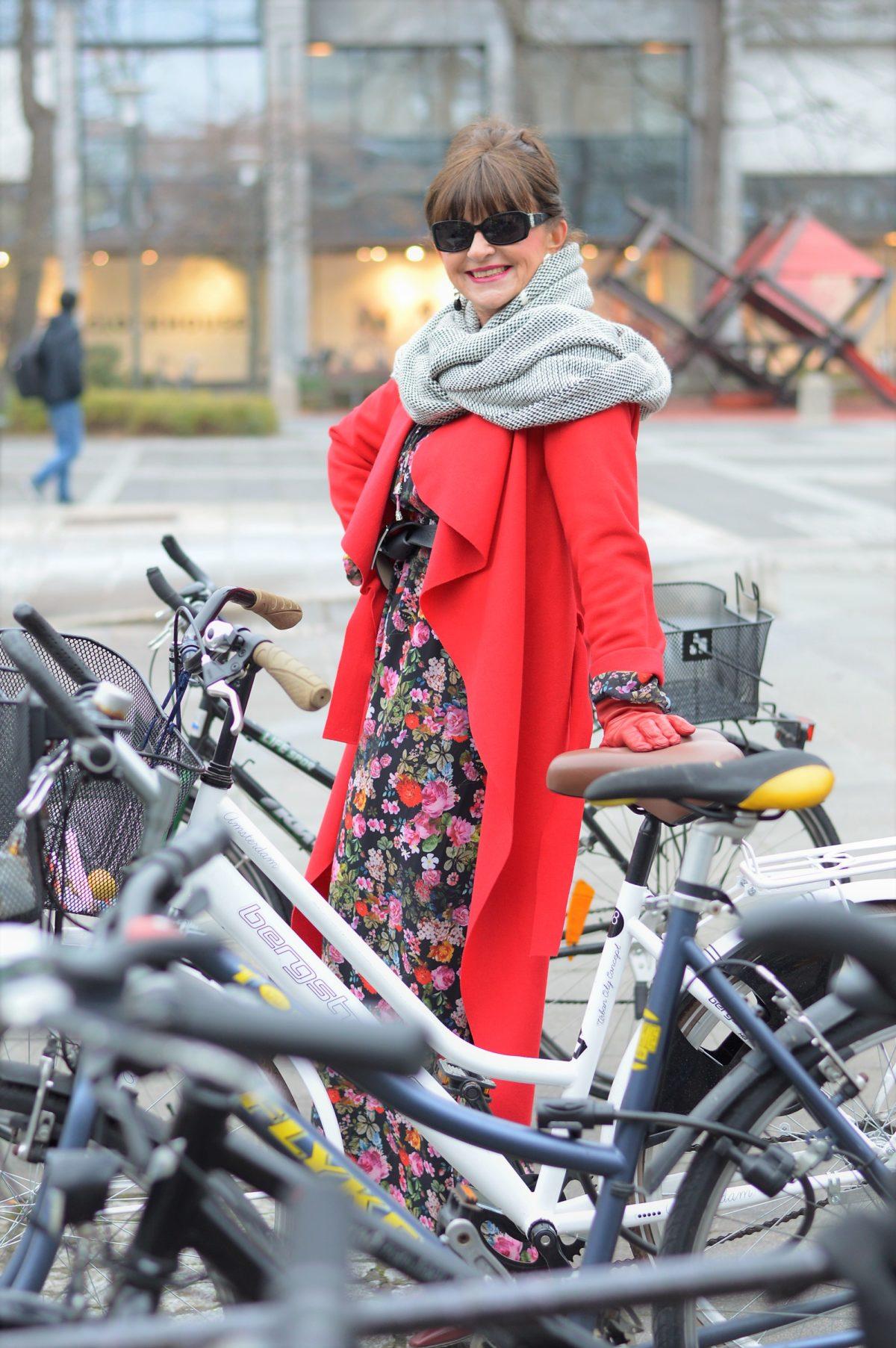 Maxikleid, Fahrrad, Erlangen