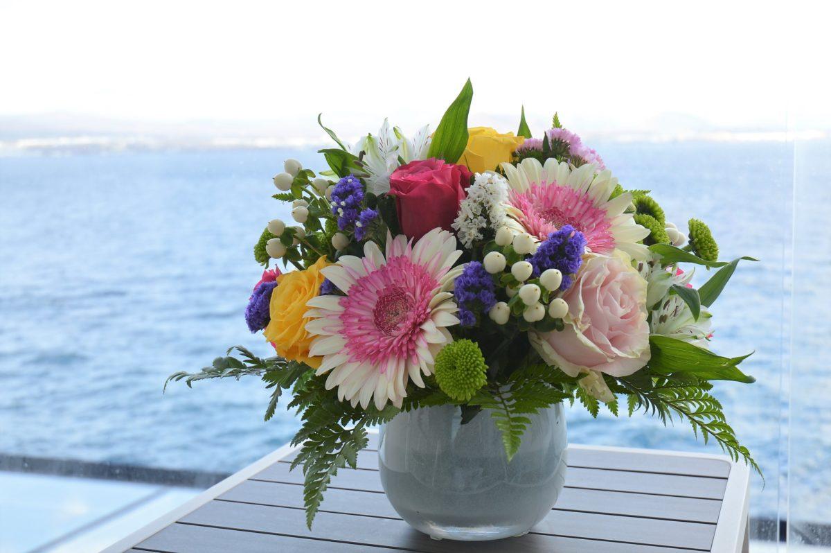 Blumen an Bord