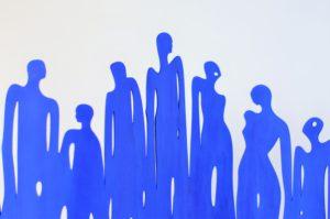 Dekoriguren Blau