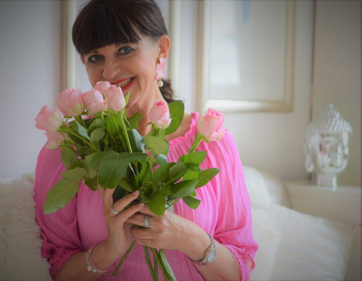 Rosafarbige Rosen