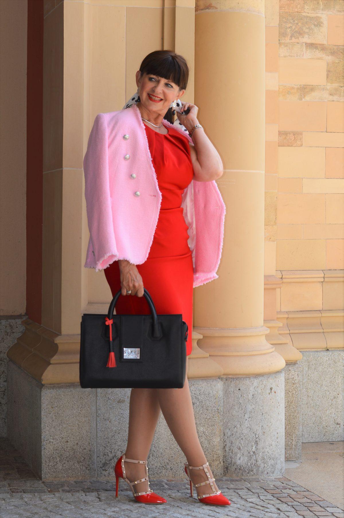 Luxushandtasche und Business Look