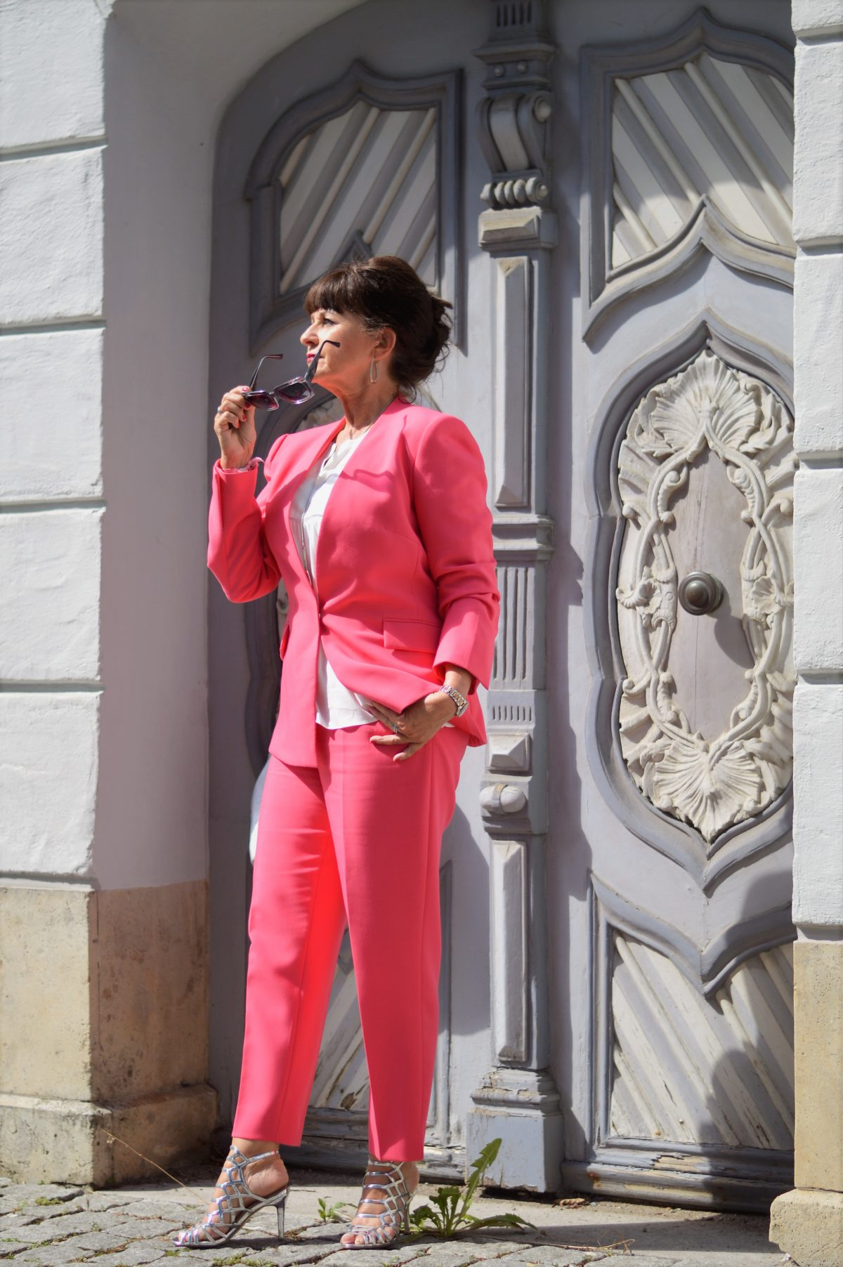Pinkfarbiger Hosenanzug Zara