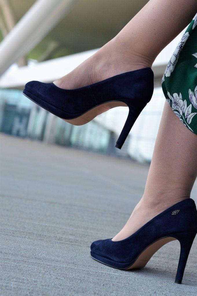 Xavier Luis blaue Schuhe