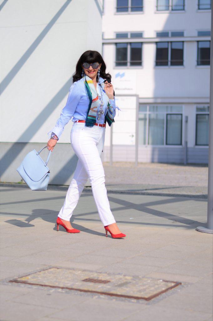 weiße Jeans kombinieren