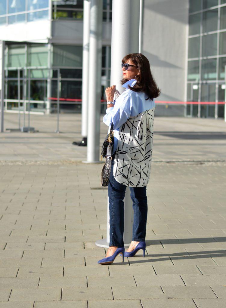 ZARA Bluse und Jeans kombinieren